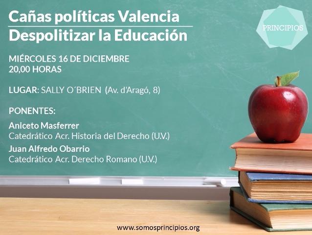 Charla-coloquio sobre La politización de la Educación: Propuestas de un cambio
